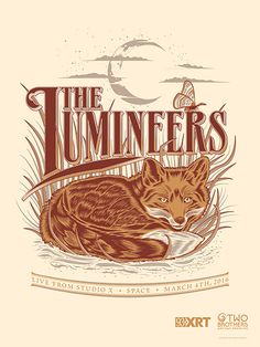 The Lumineers gig poster by Nathan Roberts