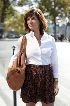 Chemise coton blanche, mon look MOOD by me par Walinette. Ma Perfect white shirt. @ The Beauty