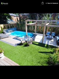 A modest pool design for the small yard | Pools | Pinterest | Small ...