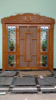 House Main Door Design, Front Door Design Wood, Wooden Door Design, Wooden Doors, House Design, 2bhk House Plan, Tv Unit Decor, Entrance Doors, Lord Shiva