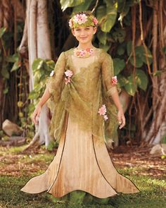dryad tree goddess girls costume - Only at Chasing Fireflies - Deep in the forest is where this breathtaking mythical spirit lives. Dryad Costume, Tree Costume, Goddess Costume, Costume Dress, Fairy Costume Kids, Halloween Costumes For Teens, Halloween Dress, Girl Costumes, Dance Costumes