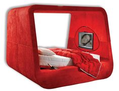 Their motto... Let's stay in bed. Lol. If It's Hip, It's Here: Karim Rashid's Exclusive Beds For Hollandia: Sphere & Glow