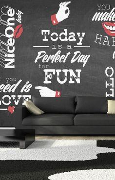 Vlies Fototapete 350x245 cm - 3 Farben zur Auswahl - Top - Tapete - Wandbilder XXL - Wandbild - Bild - Fototapeten - Tapeten - Wandtapete - Wand - Aufschrift Tafel m-A-0012-a-b