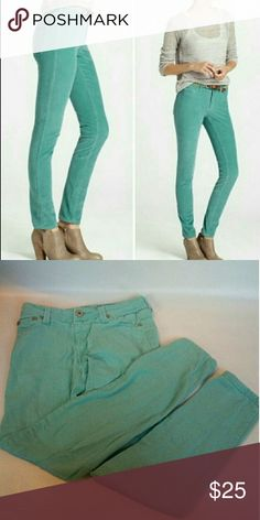 Teal skinny Jeans size 0 Light blue Women's size 0 Perfect for fall Super cute Like new perfect condition Jeans Skinny