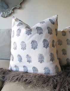 Hand Woodblock Printed Pillows...how to...