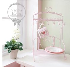 The of Korea purchasing pink love kitchen wrought iron Sheif / cup and of the platter storage / hook-ZZKKO