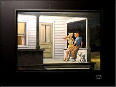 Tintin / Hopper : Fun ! Je suis un blog critic d'art confus car si je suis allé au salon Art3f, c'est suite à une