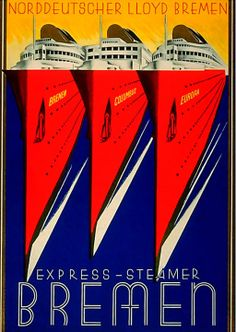 Express-Steamer Bremen - Vintage Posters - Dark Roasted Blend