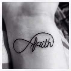 """New tattoo, stands for """"endless faith"""" <3"""