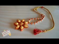 DIY - Quilled Paper Necklace, How to make paper quilled jewellery - YouTube