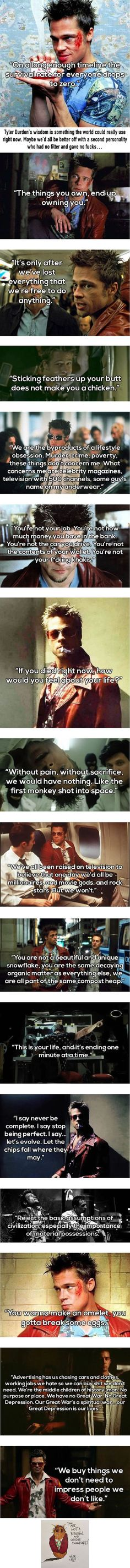 Tyler Durden Is The Life Coach We All Need Right Bow
