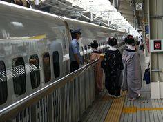 Maiko Boarding the Shinkansen, Kyoto