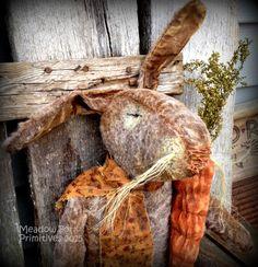 Primitive Folk Art Old Dirty Brown by MeadowForkPrims on Etsy