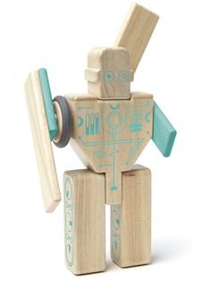 Tegu Magnetic Wooden Block Set Magbot - Tegu's award winning building system combines the timelessness of wood with the magic of magnets. Toddler Gifts, Gifts For Kids, Holiday Gift Guide, Holiday Gifts, Robot, 9 Block, Fall To Pieces, No Plastic, Wooden Blocks