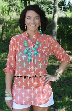 Show Stopper Orange Cross Sheer Top  $34.95  www.gugonline.com