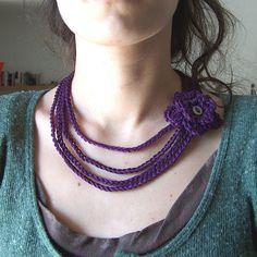 necklace_purple by m.creativeyarn, via Flickr