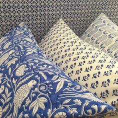"687 Likes, 20 Comments - Pigott's Store (@pigottsstore) on Instagram: ""Blue and white such a classic ! #atpigottsstore #indianfabric #interiors #interiordesign…"""
