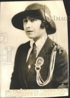 1936 Press Photo Queen Show Duchess Of York As Appear In Uniform Of Girl Guides | eBay