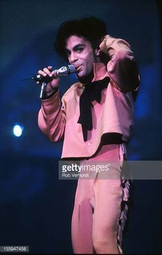 Prince performs on stage on his Sign 'o' the Times Tour Nieuw Galgerwaard Utrecht Netherlands 21st June 1987