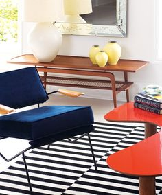 Pop Art Apartment -- Nice mix of pattern, texture, and BRIGHT(!) colors