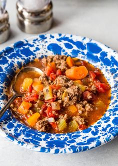 Hamburger Soup -- so QUICK and EASY! Great last-minute weeknight meal. Ready in 30 minutes. from @simplyrecipes