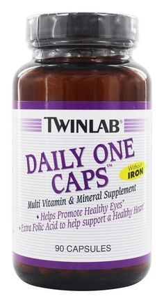 improve your vision! TwinLab Daily One without Iron Multivitamin in 60 - 90 or 180 caps #TWINLAB