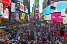 Time Square Dusk - time square, new york city, at dusk New York City, Times Square, Nyc, America, Travel, Viajes, New York, Destinations