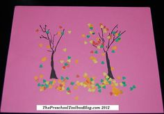 #Fall Trees #kidscrafts