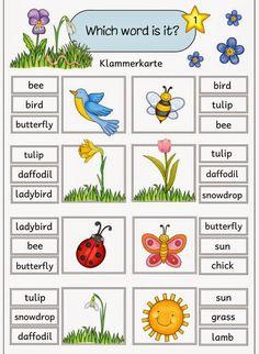 """Ideenreise: Klammerkarten zu """"Easter and spring"""""""