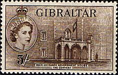Gibraltar 1953 SG 156 Government House Convent Fine Mint Scott 142 Other European and British Commonwealth Stamps HERE! British Overseas Territories, British Indian Ocean Territory, Buy Stamps, Vintage Stamps, King George, Penny Black, Commonwealth, Mail Art, Stamp Collecting