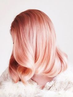 Peach Hair Is All Over Pinterest, and We're Mesmerized via @ByrdieBeauty