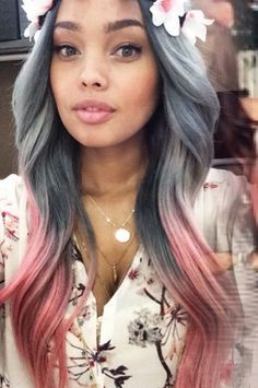 New grey hair trend. Different grey hair ideas. Grey hair shades for younger women. Shades of grey hair trend. 2015 Hairstyles, Pretty Hairstyles, Pink Hairstyles, Wedding Hairstyles, Love Hair, Gorgeous Hair, Hair Colorful, Hair Trends 2015, Corte Y Color