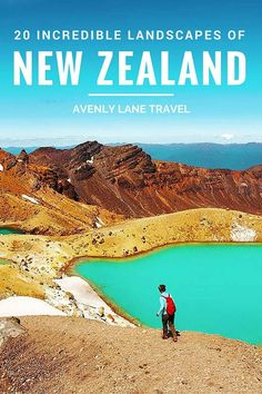 20 Incredible Landscapes You Can Only Find In New Zealand! The Tongariro Alpine Crossing is a perfect day hike in the North Island's Tongariro National Park. This park is famous for volcanic activity, its beautiful Emerald Lakes, and Maori religious sites. Click through to see the whole post!