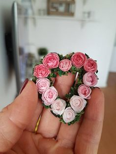RESERVED heart shaped wreath of garden roses