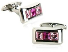 Crystal Cufflinks in Pink by Michael Soho Cuff-Daddy. $39.99. Arrives in hard-sided, presentation box suitable for gifting.. Made by Cuff-Daddy