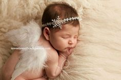 Winter Photo Prop Newborn Angel Wings Sweet by ASweetSweetBoutique