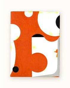 31 / Blazon Series, variation 10 / 2014 / encaustic & alkyd on wood panel  / 8 x 6 inches