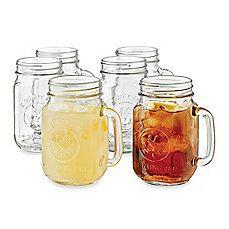 image of Libbey® Country Folk 16 1/2-Ounce Mason Drinking Jars (Set of 6)