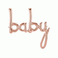 Baby Balloon in Rose Gold or Pastel Blue, Baby Script Balloon,Baby shower, Baby Girl Shower, Baby Boy Shower Baby Ballon, Ballon Rose, Baby Shower Balloons, Baby Shower Parties, Shower Party, Rose Gold Balloons, Blue Balloons, Letter Balloons, Foil Balloons