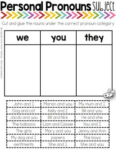 After many years of working as a teacher there are some areas you know your students will have trouble with, especially your ESL students. Personal Pronouns can be a tricky subject and it needs targeted work and practice!  My lifesaver has been this combination of exercises (and a lot of patience and repetition) which are engaging and fun for the students.