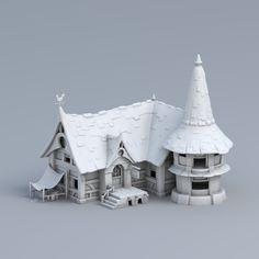 WIP Small house, Artem Osadchiy on ArtStation at https://www.artstation.com/artwork/EJJz4?utm_campaign=digest&utm_medium=email&utm_source=email_digest_mailer