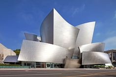 Walt Disney Concert Hall – Los Angeles Gehry was shortlisted to devise a new home for the Los Angeles Philharmonic in 1988; the project, the Walt Disney Concert Hall, finally opened in 2003. Today critics and the public agree that the iconic building was worth the wait. inside, similarly shaped panels of Douglas fir line the auditorium.  Photo: JRC/Alamy