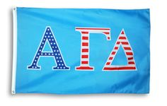 Alpha Gamma Delta 3 X 5 USA Flag from GreekGear.com