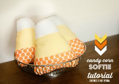 candy corn softie tutorial and free pattern! -Craftiness Is Not Optional