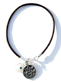 Womens 7 Pregnancy Solomon Seal  White Evil Eye Charm Bracelet * Check out this great product.