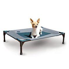 Beingdogs.com | dog supplies | K&H Manufacturing Original Pet Cot Medium Gray/Mesh  | #dogsupplies #dogbed
