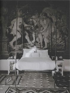 Interrior photographed by Francois Halard ~ETS (Mark D. Sikes: Chic People, Glamorous Places, Stylish Things | Page 102) #mural