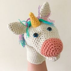 Sewing Uli the Unicorn Hand Puppet crochet pattern by Sew Sew Baby - Glove Puppets, Hand Puppets, Sock Puppets, Crochet Flower Patterns, Crochet Flowers, Puppet Patterns, Sewing Patterns, Doll Patterns, Sewing Projects For Kids