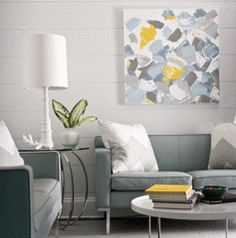 5 Tips For Choosing Art That Is The Right Size For Your Room. Living Room  YellowGray ...