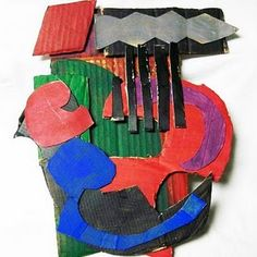 Frank Stella Relief Sculptures  I did something like this last year. We looked at Elizabeth Murray. There's a good video on art21.